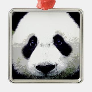 Panda Bear Metal Ornament