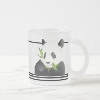 Panda Bear 10 Oz Frosted Glass Coffee Mug