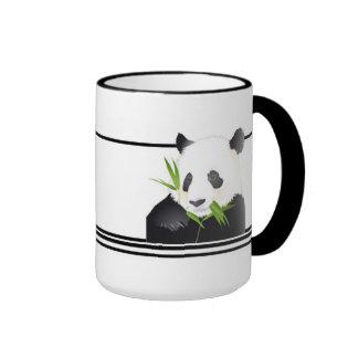 Panda Bear Ringer Coffee Mug