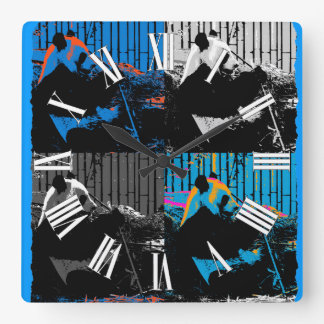 Panda Bear Multi-panel Modern Art Design Wall Clocks