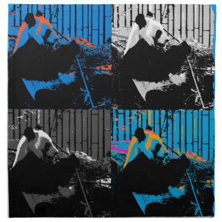 Panda Bear Multi-panel Modern Art Design Napkin