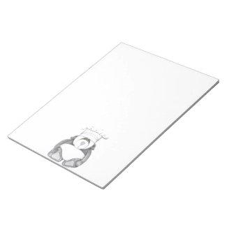Panda Bear Note Pad notepad