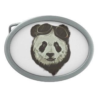 Panda Bear Oval Belt Buckle