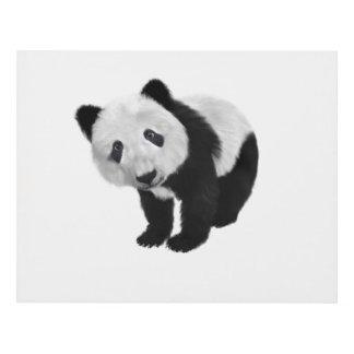 Panda Bear Panel Wall Art