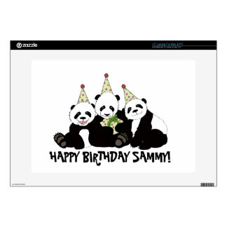 "Panda Bear Party by Kindred Design 15"" Laptop Decal"