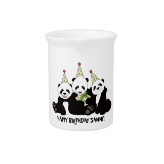 Panda Bear Party by Kindred Design Drink Pitcher