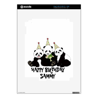 Panda Bear Party by Kindred Design iPad 2 Skins