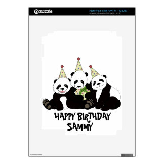 Panda Bear Party by Kindred Design iPad 3 Skin