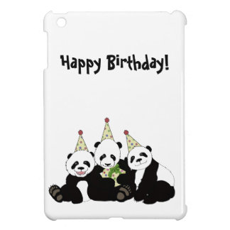 Panda Bear Party by Kindred Design iPad Mini Cover