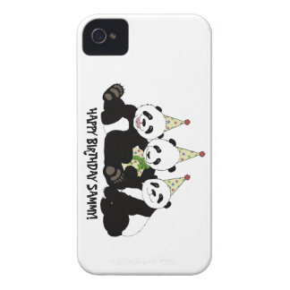 Panda Bear Party by Kindred Design iPhone 4 Case