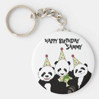 Panda Bear Party by Kindred Design Keychain