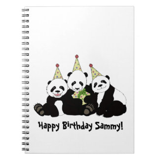Panda Bear Party by Kindred Design Notebook