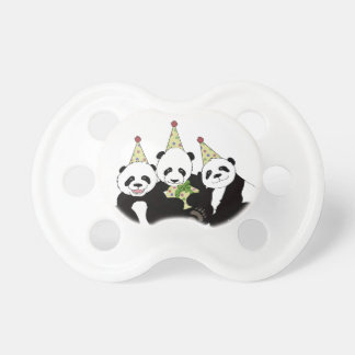 Panda Bear Party by Kindred Design Pacifier
