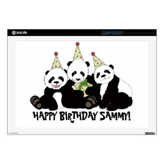 Panda Bear Party by Kindred Design Skin For Laptop