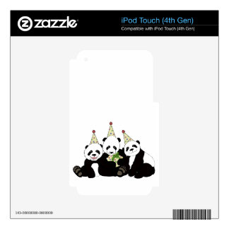 Panda Bear Party by Kindred Design Skins For iPod Touch 4G