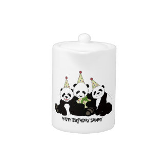 Panda Bear Party by Kindred Design Teapot
