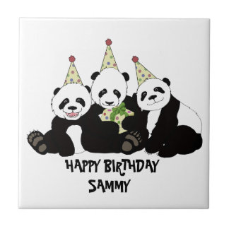 Panda Bear Party by Kindred Design Tile