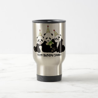 Panda Bear Party by Kindred Design Travel Mug