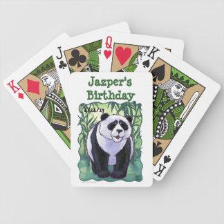 Panda Bear Party Center Bicycle Playing Cards