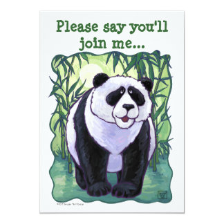 Panda Bear Party Center Card