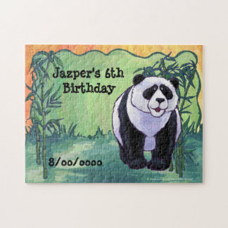 Panda Bear Party Center Jigsaw Puzzle