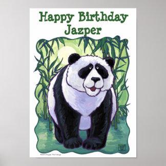 Panda Bear Party Center Posters