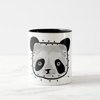 PANDA BEAR PATCHWORK Two-Tone COFFEE MUG