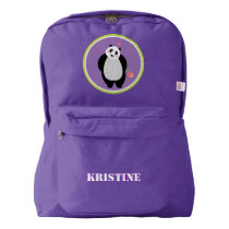 Panda Bear Personalized Back to School Backpack