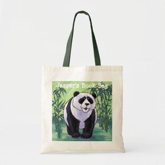 Panda Bear Personalized Book Bag