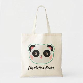 Panda Bear Personalized Book Tote Bag