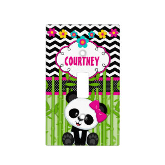 Panda Bear Personalized Light Switch Cover