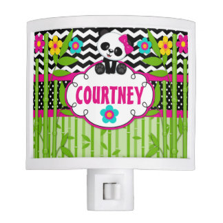 Panda Bear Personalized Monogram Night Light