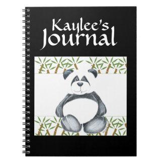 Panda Bear Picture Spiral Notebook