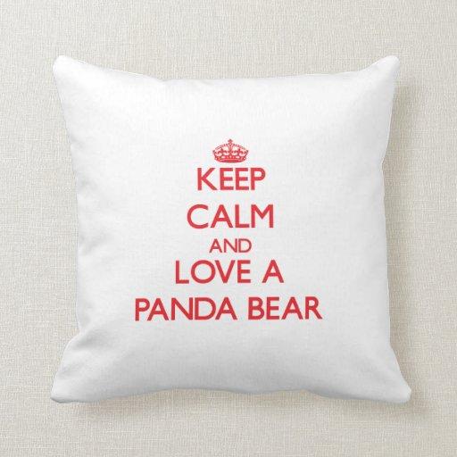 Panda Bear Throw Pillows