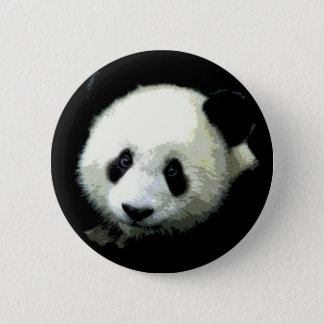 Panda Bear Pinback Button