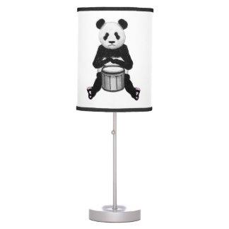 Panda Bear Playing The Drums Desk Lamp