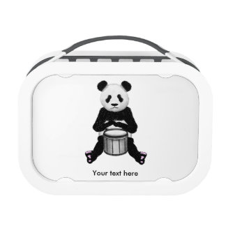 Panda Bear Playing The Drums Lunch Box