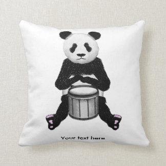 Panda Bear Playing The Drums Pillow