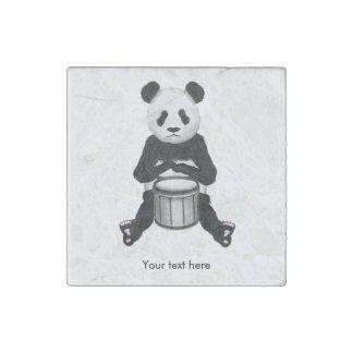 Panda Bear Playing The Drums Stone Magnet