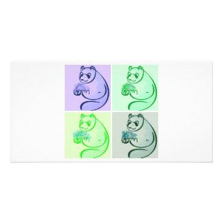 Panda Bear Pop Art Card