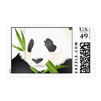 Panda Bear Postage Stamps