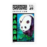 Panda Bear Postage Stamp