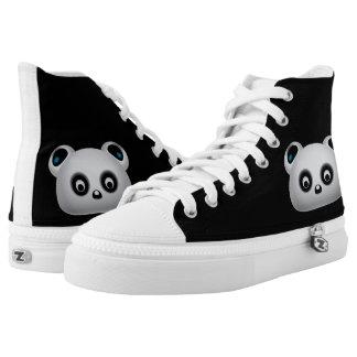 Panda bear printed shoes