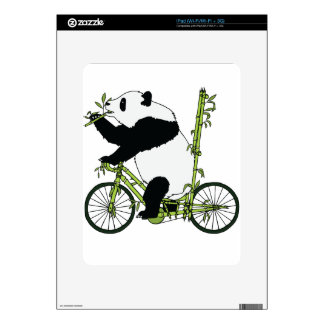 Panda Bear Riding Bamboo Bike Decals For The iPad