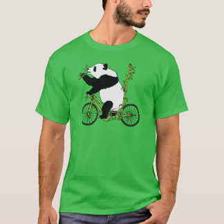 Panda Bear Riding Bamboo Bike T-Shirt