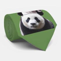 Panda Bear Santa Claus Neck Tie
