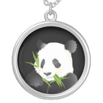 Panda Bear Silver Plated Necklace