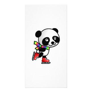 Panda Bear Skating Photo Cards