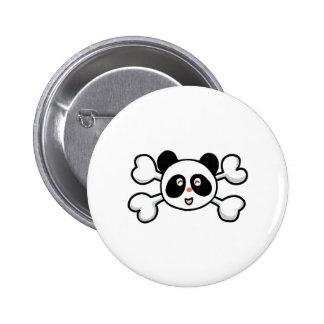 panda bear Skull and Crossbones Button