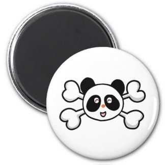 panda bear Skull and Crossbones Fridge Magnets